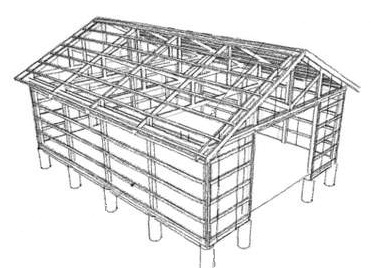 Ham 16 x 24 pole barn plans diy for Pole barn plans pdf