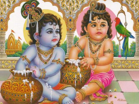 Krishna and Balaram, the Butter Brothers